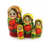 """Matryoshka """"Flower bouquet"""", 5 pieces"""