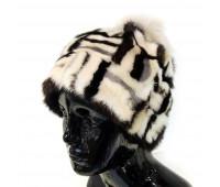 Лоскутная норковая шапка