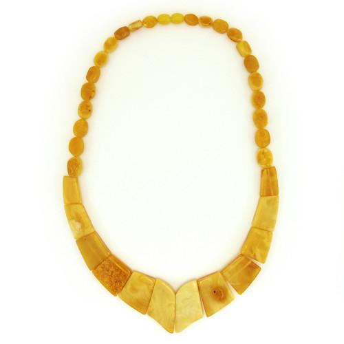 Ожерелье из янтаря, молочный янтарь