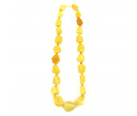 Amber beads, milky amber
