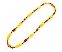 Amber beads, milky and honey amber