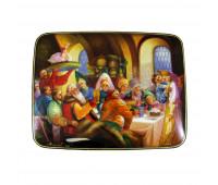 "Lacquer miniature ""Boyar's feast"", Fedoskino"