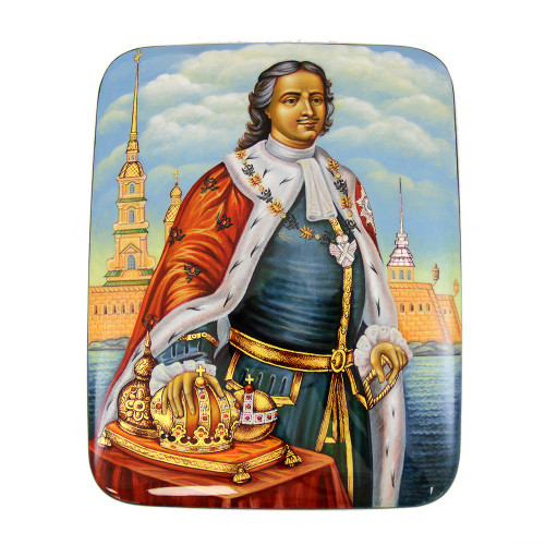 "Lacquer miniature ""Peter the Great"""