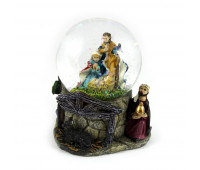 Birth of Christ figurine Snowball with lights