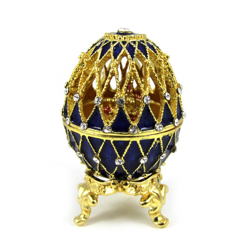 Egg jewelry box in Faberge style