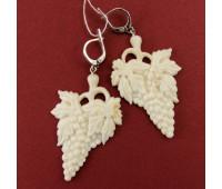 Earrings, mammoth tusk