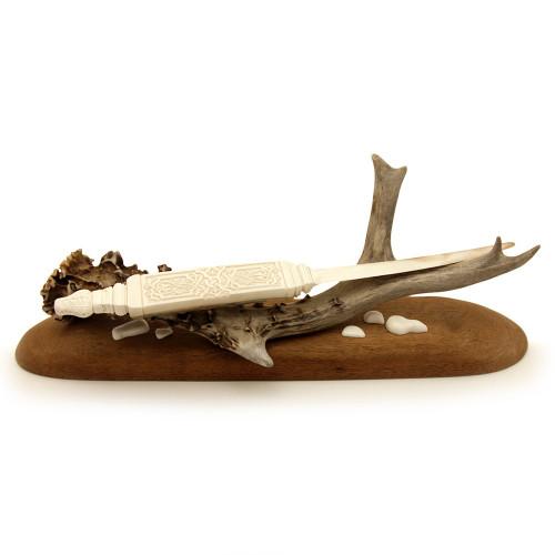 Нож для конвертов из мамонтовой кости с подставкой