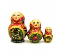 "Matryoshka ""Fairy tales"", 3 pieces"