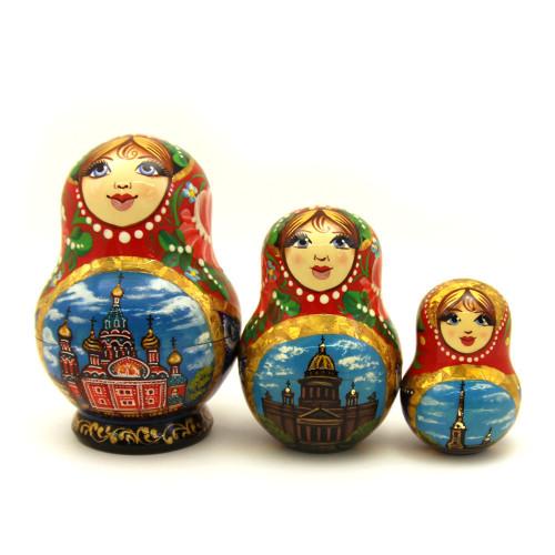 "Матрешка ""Санкт-Петербург"", 3 места"