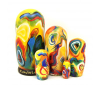 "Matryoshka ""Kandinsky"", 5 pieces (Russian Babushka doll)"