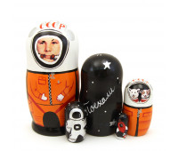 "Matryoshka ""Gagarin"", 5 pieces"