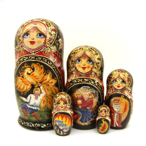 """Матрешка """"Народные русские сказки"""", 5 мест"""