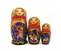 "Nesting doll ""Fairy Tale"", 3 pieces"