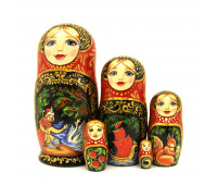"Nesting doll ""Fairy Tale"", 5 pieces"