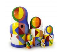 "Matryoshka ""Malevich"", 5 pieces (Russian Babushka doll)"