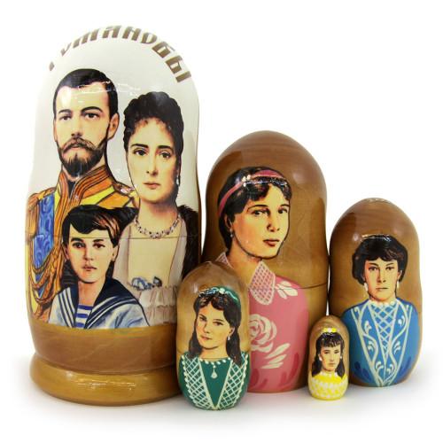 "Матрешка ""Романовы, Николай II"", 5 мест"