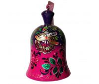 "Hand-painted bell ""Zhostovo"", wood"