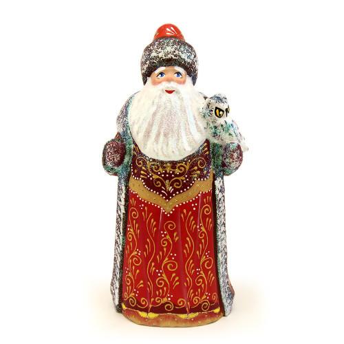 Резной Дед Мороз с блестками