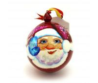 """Деревянный расписной шар """"Дед Мороз"""""""