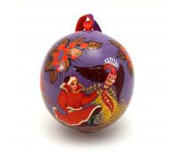 """Hand-painted wooden ball """"Fire Bird"""""""
