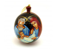 """Hand-painted wooden ball """"Christmas"""""""