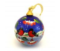 "Hand-painted wooden ball ""Bullfinch, Village"""