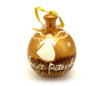 """Hand-painted wooden ball """"Angel, Baby Jesus"""""""