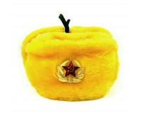 Шапка ушанка Желтая