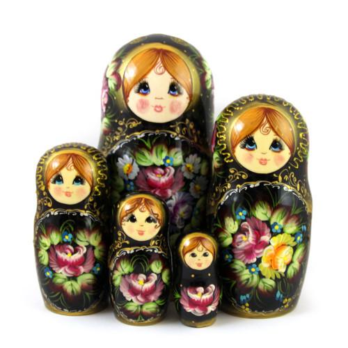 """Матрешка """"Цветочный букет"""", 5 мест"""
