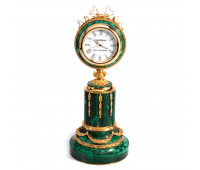 Faberge malachite clock