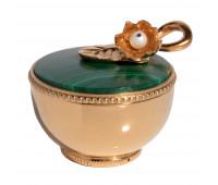 Toilet box Lily malachite
