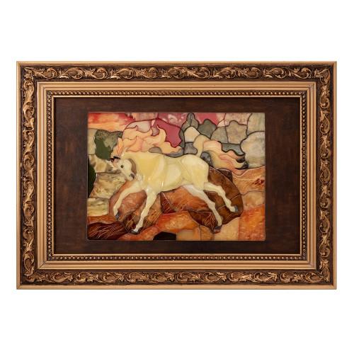 Панно мозаика Конь