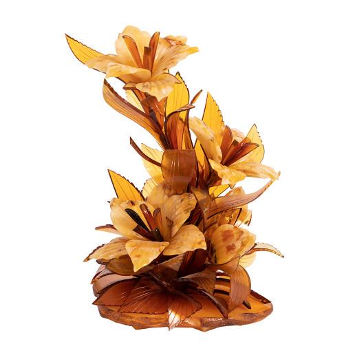 Ikebana bouquet amber