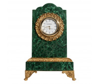 Office clock malachite