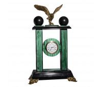 Часы малахит с Орлом