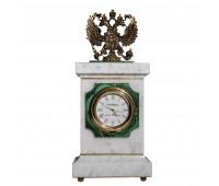 Часы малахит мрамор