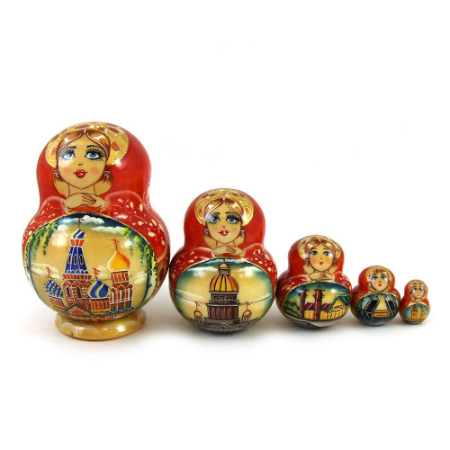 "Матрешка ""Санкт-Петербург, храм Спас на Крови"", 5 мест"