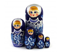 "Матрешка ""Цветы Гжель"", 5 мест"