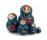 "Matryoshka ""Flowers"", 5 pieces"