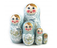 "Matryoshka ""Flowers Gzel"" (Babushka dolls)"