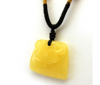 Carved amber stone