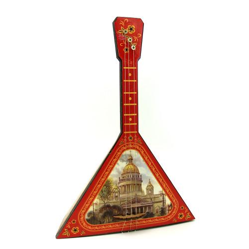 Decorative balalaika 25cm with music box