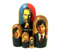 "Matryoshka ""Steve Jobs"", 5 pieces"