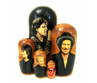 "Matryoshka ""Rolling Stones"", 5 pieces"