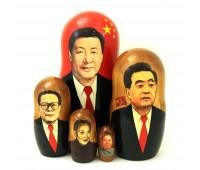 """Матрешка """"Китайские политики"""": Си Цзиньпин, 5 мест"""