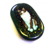 "Lacquer miniature ""Cat"", Kholuy"