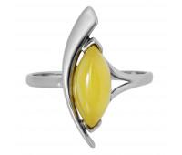 Кольцо молочный янтарь серебро 925