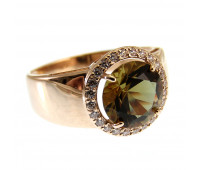 Кольцо с султанитом золото 585