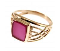 Кольцо с корундом золото 585