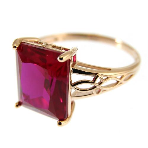 Corundum ring gold 585, 4.02 gr